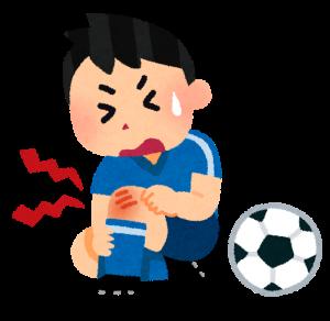 膝 イラスト 男性 サッカー